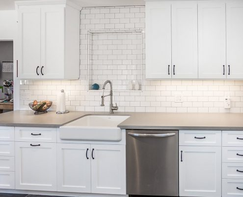 Custom Built Cabinets in White